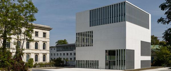 NS-Dokumentationszentrum, München. Besonderheit: Weißer Architekturbeton